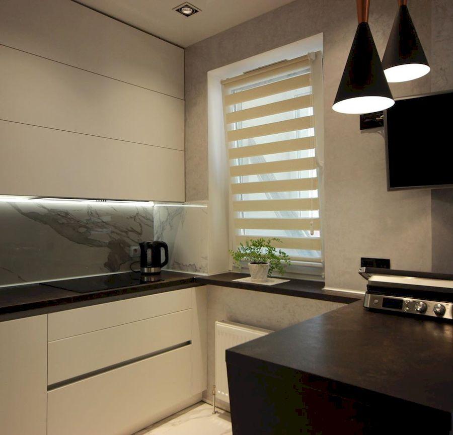 Белый кухонный гарнитур-Кухня МДФ в ПВХ «Модель 660»-фото6