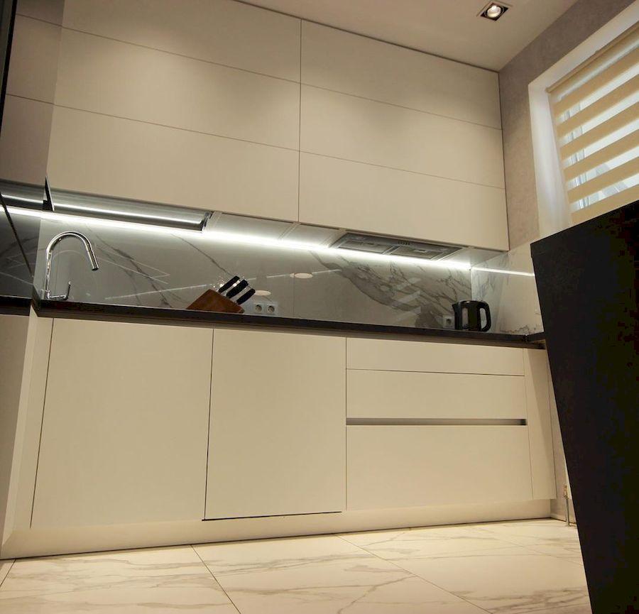 Белый кухонный гарнитур-Кухня МДФ в ПВХ «Модель 660»-фото4