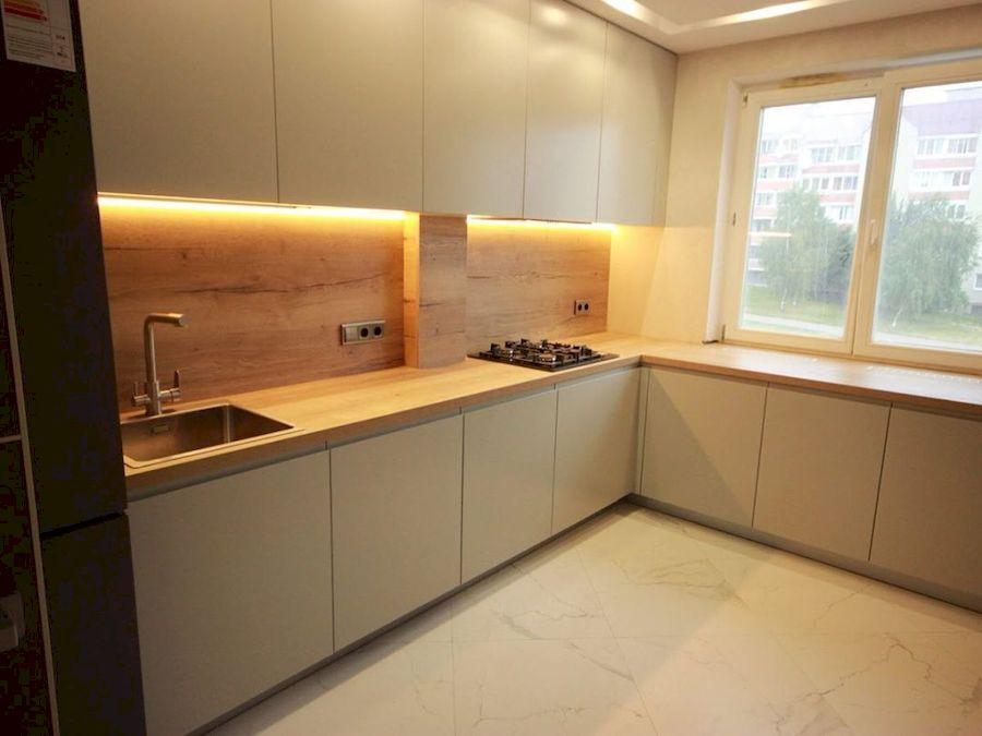 Бежевые кухни-Кухня МДФ в эмали «Модель 661»-фото1