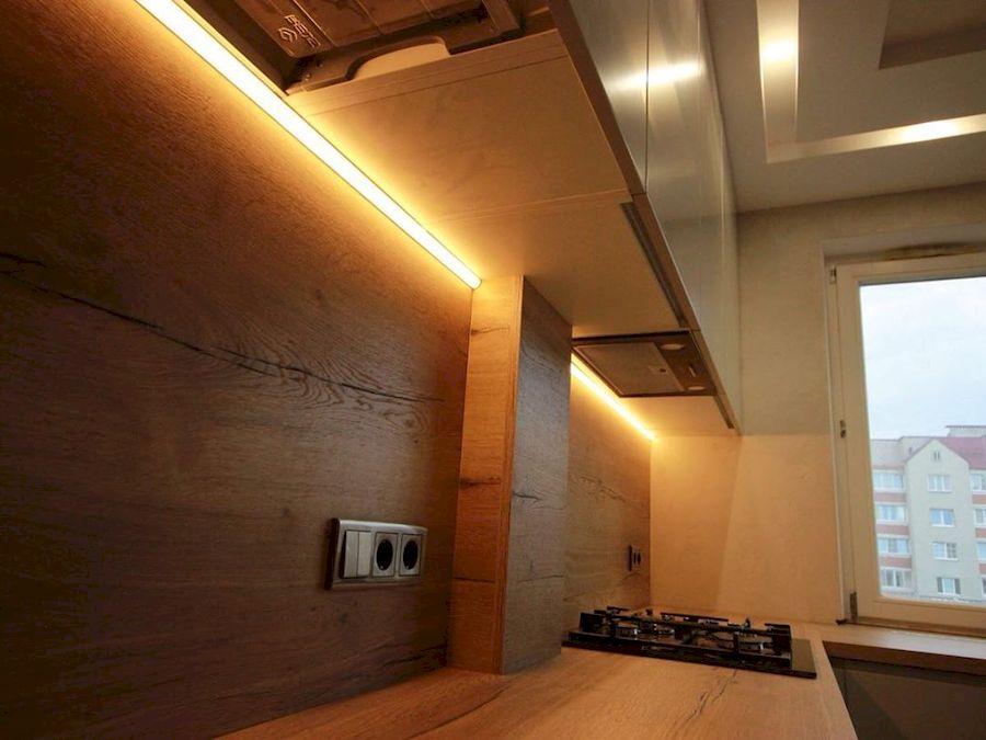 Бежевые кухни-Кухня МДФ в эмали «Модель 661»-фото7