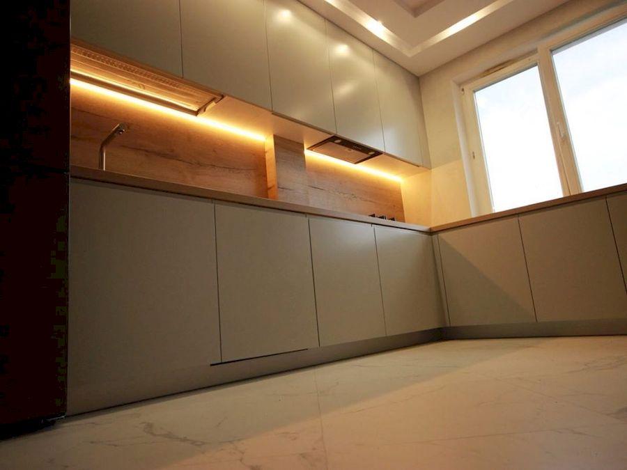 Бежевые кухни-Кухня МДФ в эмали «Модель 661»-фото5
