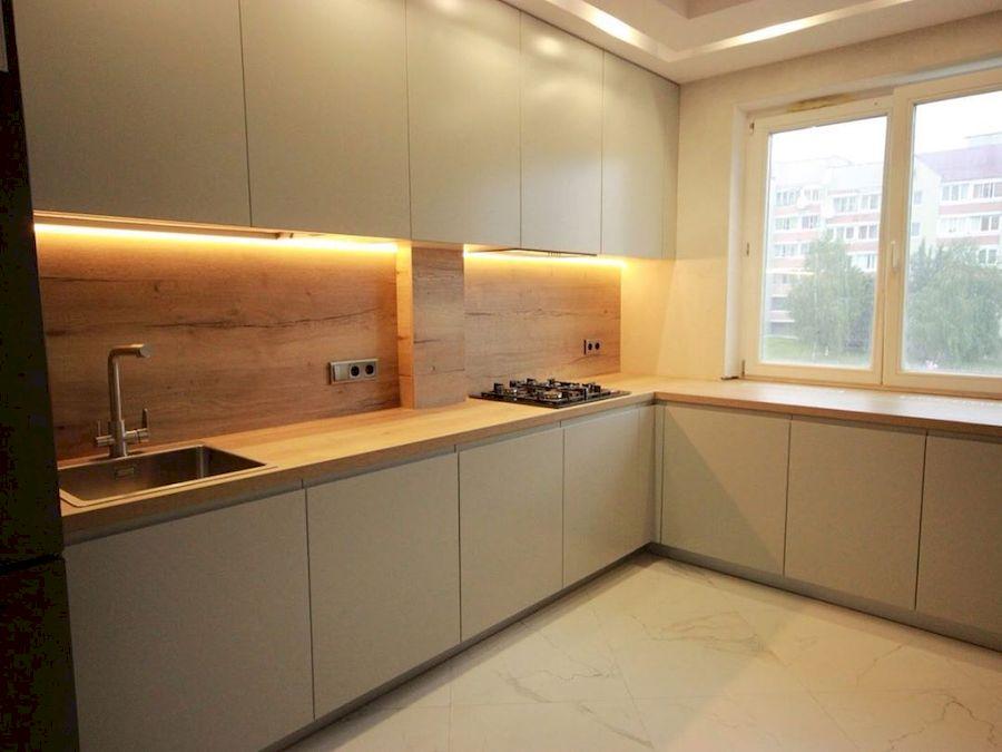 Бежевые кухни-Кухня МДФ в эмали «Модель 661»-фото3
