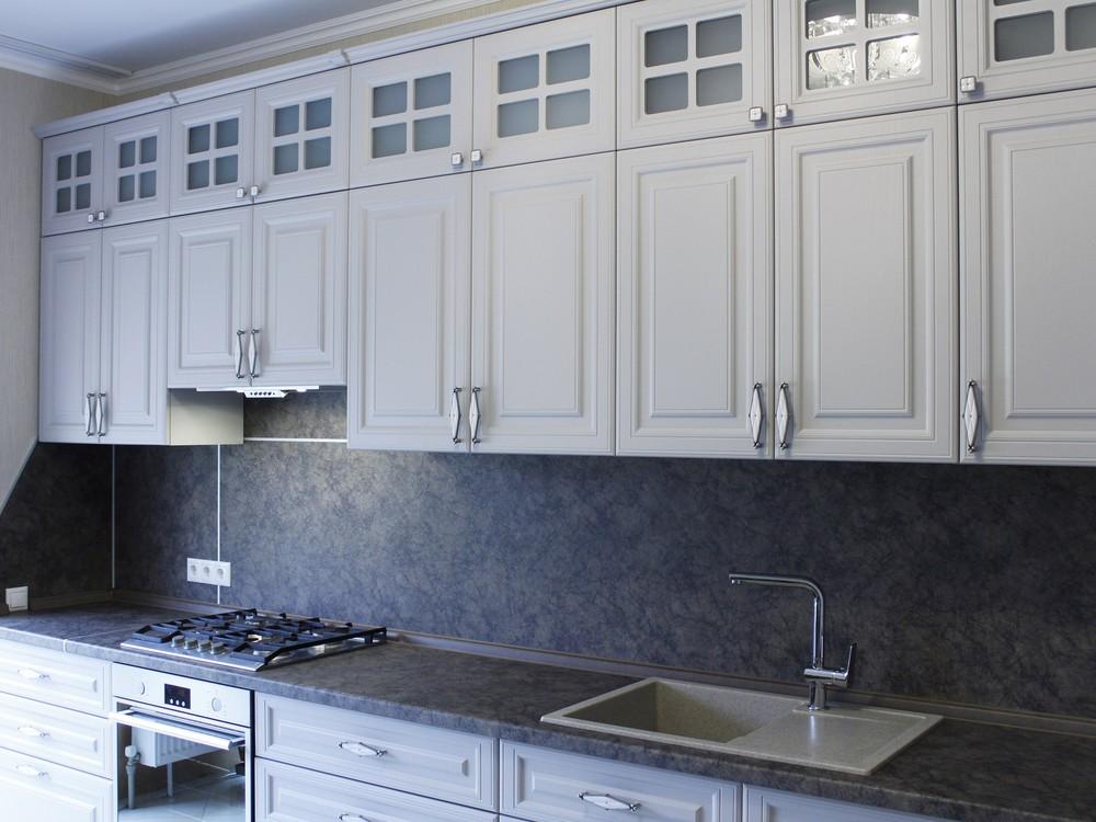 Встроенная кухня-Кухня МДФ в ПВХ «Модель 147»-фото1